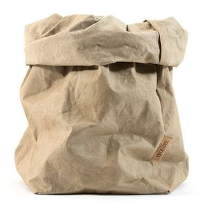 Uashmama Medium Paper Bag, Sand (199-MSND)