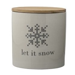 "Bloomingville XMAS Cross Krukke m/lokk, ""Let-it-snow"""
