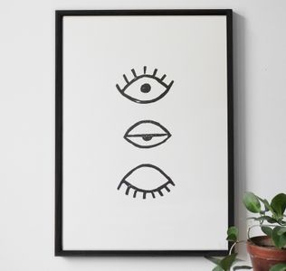 "Fine Little Day Plakat ""Eye eye"", 50x70cm (232-1011)"