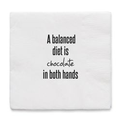 "By On Servietter ""A balanced diet"""