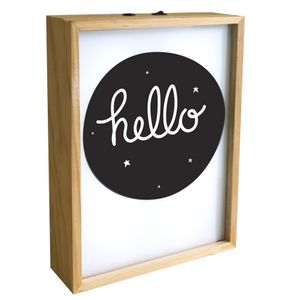 A Little Lovely Company Lightbox Poster - Hello (315-LTBX029)