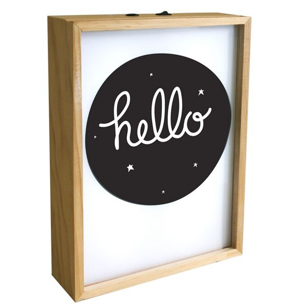 Lightbox Poster - Hello
