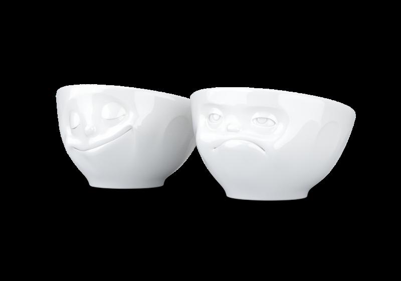 """Egg-glass """"Glad&Hmpff"""" hvite, 2stk"""
