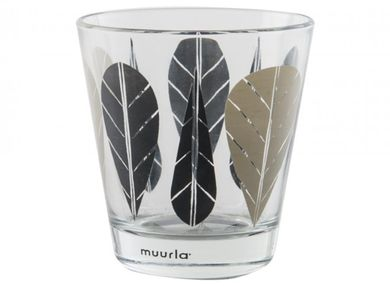 Muurla Leaves Glass 2-pack Sort (192-494920)