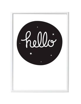 A Little Lovely Company Poster HELLO - 50x70cm (315-POHE009)