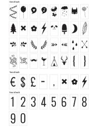 A Little Lovely Company Bokstavsett til Lightbox, Numbers+symbols