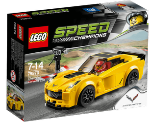 LEGO® Speed Champions Chevrolet Corvette Z06, gul