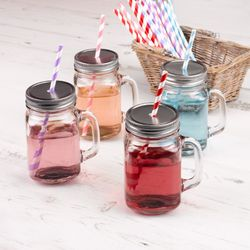 Home Collection Mason Jar Drikkeglass, 4stk