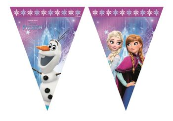 Frozen Northern Lights Triangel flagbanner, 1 stk