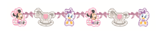 Minnie Mus Infant Silhouette banner, 1 stk (126-85582)