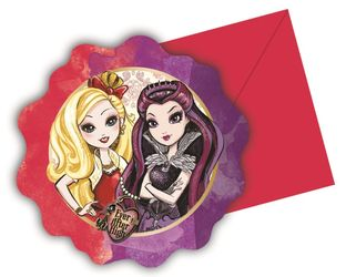 Ever After High Invitasjoner - 6 stk