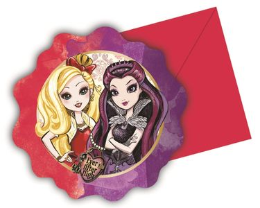 Ever After High Invitasjoner - 6 stk (126-86034)