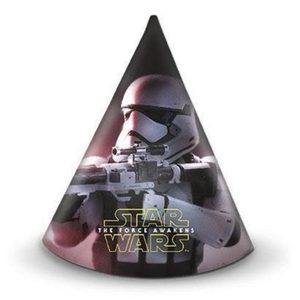 Star Wars The Force Awakens Festhatter m/motiv (6 pk) (126-86225)