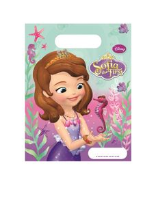 Sofia Pearl Of The Sea Godteposer m/motiv, (6 pk) (126-86593)