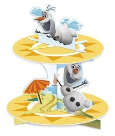 Olaf Summer Kakefat for cupcakes, 1stk