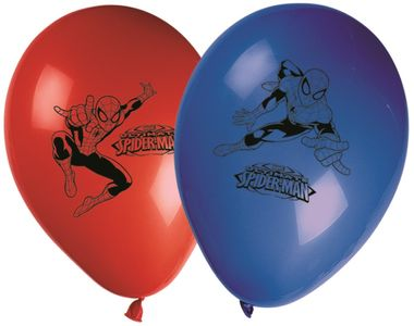 Ultimate Spiderman Web Warriors Ballonger - 8 stk (126-81536)