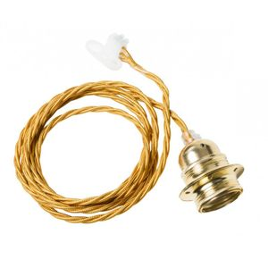 Watt & Veke Alex Messing m/twisted cable (204-T5070812_kabel)