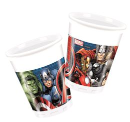 Avengers Power Plastkopper, 200ml (8 stk)