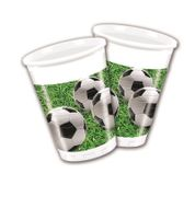 Fotball Party Plastkopper, 200ml (8 stk)