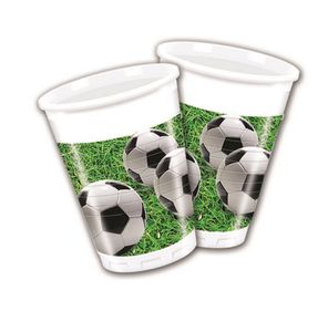 Fotball Party Plastkopper,  200ml (8 stk) (126-86870)