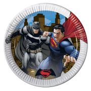 Batman Vs Superman Papptallerkener, store (23cm) 8stk