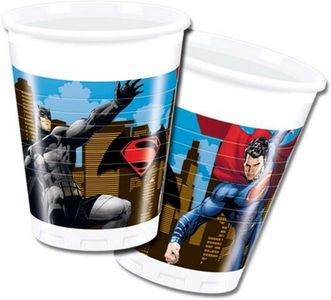 Batman Vs Superman Plastkopper,  200ml (8 stk) (126-86721)