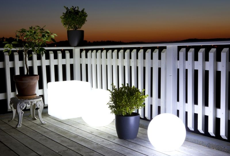 Globe LED-ball 300mm, oppladbart-batteri