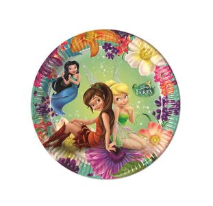 Disney Fairies Papptallerkener,  medium (20cm) 8stk (126-85243)