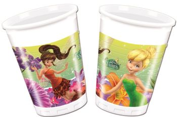 Disney Fairies Plastkopper, 200ml (8 stk)