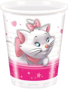 Disney Marie Plastkopper,  200ml (8 stk) (126-81146)