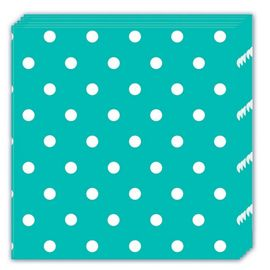Dots Servietter, turkis (20 pk)