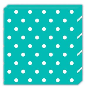 Dots Servietter,  turkis (20 pk) (126-84943)