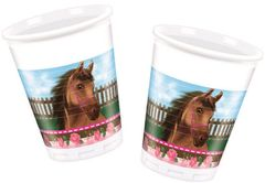 Lovely Horse Plastkopper, 200ml (8 stk)