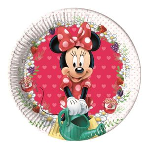 Minnie Mus Jam Papptallerkener,  medium (20cm) 8stk (126-86580)