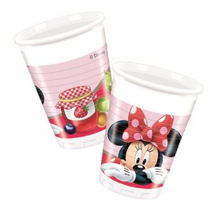 Minnie Mus Jam Plastkopper,  200ml (8 stk) (126-86581)