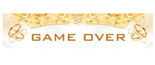 "PartyDeco Bilskilt Bryllup ""Game Over"""