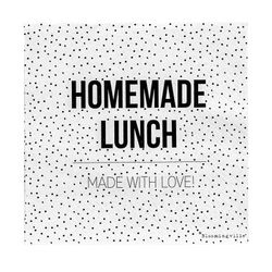"Bloomingville Servietter ""Homemade Lunch"", hvite"