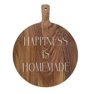 "Skjærebrett ""Happiness is homemade"""