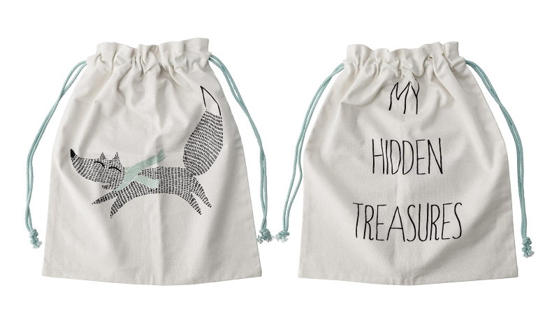 "Oppbevaringspose,  ""My Hidden Treasures"""