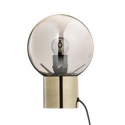 Bloomingville Bordlampe m/sort glass, Ø18cm