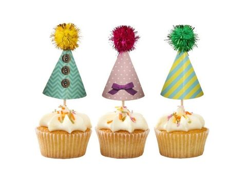 Home Collection Partyhatter til Cupcakes, 6stk (192-404047)