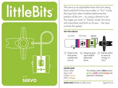 LittleBits Servo - kapasitet 50kg (351-3300114)