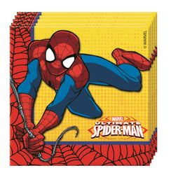 Ultimate Spiderman Power Servietter - 20 stk