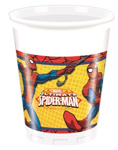 Ultimate Spiderman Power Plastkopper 200ml, 8 stk (126-86670)