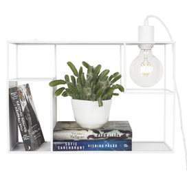 Globen Lighting Vegglampe Shelfie Hvit, H30cm