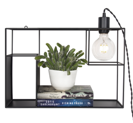 Globen Lighting Vegglampe Shelfie Sort, H30cm
