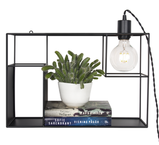 Globen Lighting Vegglampe Shelfie Sort, H30cm (205-233411)