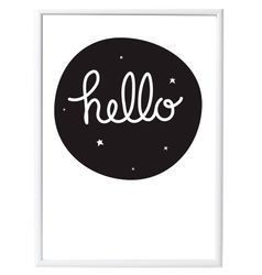 A Little Lovely Company Poster HELLO - 50x70cm