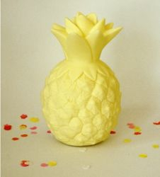 A Little Lovely Company Ananas Lampe - Gul