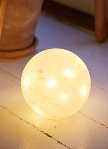 LED-Ball Glasslampe 15cm, batteri